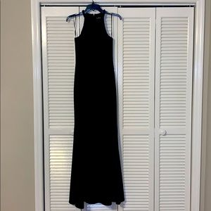 Black formal evening gown